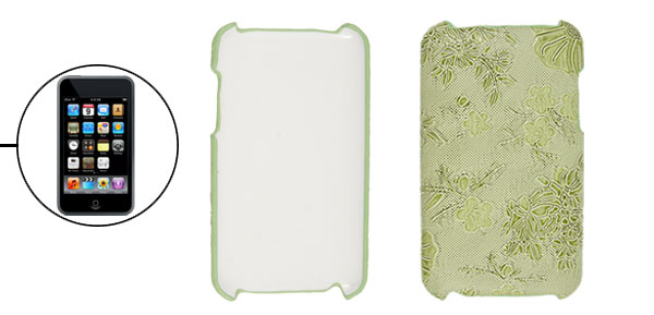 Flower Light Green Hard Plastic Back Case for iPod Touch 2G 3G