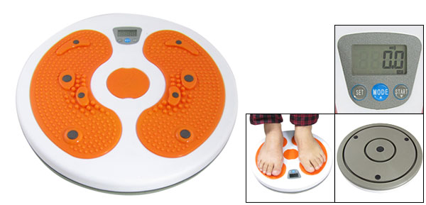 Orange White Waist Exercise Calorie Twister Figure Trimmer