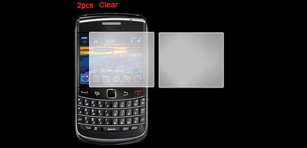 2 Pcs Clear Screen Protector Guard Film for Blackberry 9700