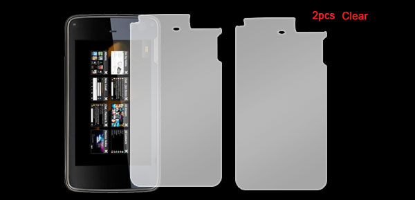 2 Pcs Replaceable Clear Screen Protector for Nokia N900