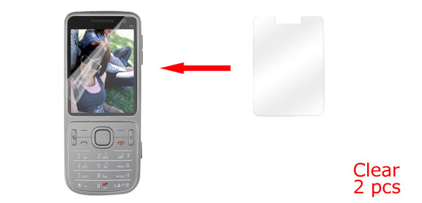 2 Pcs Clear LCD Screen Protector Guard for Nokia C5