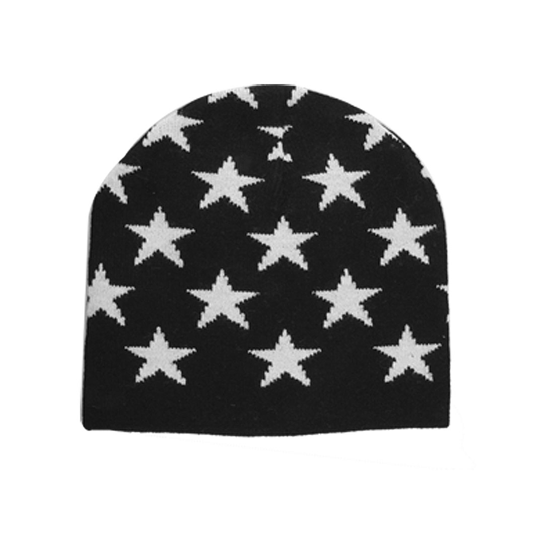 Winter-Warm-Black-White-Knitting-Beanie-Cap-for-Kids