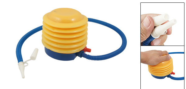 Blue Yellow Plastic Manual Air Pump Inflator Toy