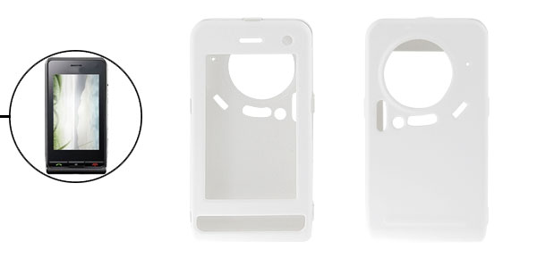 White Rubberized Hard Plastic Case Detachable Shell for LG KU900