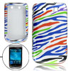 colors zebra print separated plastic cas...