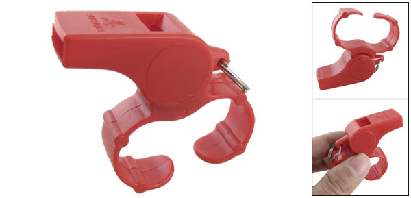 Sports Trainer Referee Take Attention Red Plastic Whistle
