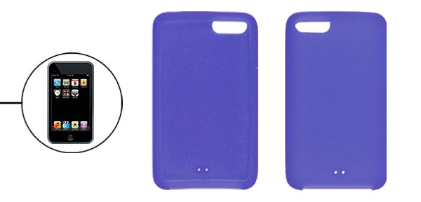 Solid Blue Soft Silicone Skin Case for iPod Touch 2G 3G