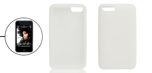 Soft Silicone White Protective Skin for iPod Touch 2G 3G