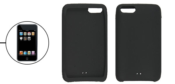 Protective Silicone Black Skin for iPod Touch 2G 3G