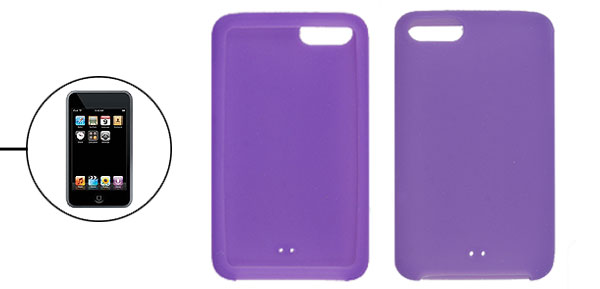 Purple Smooth Surface Silicone Case Skin for iPod Touch 2G 3G