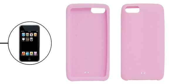 Protective Solid Pink Silicone Cover for iPod Touch 2G 3G