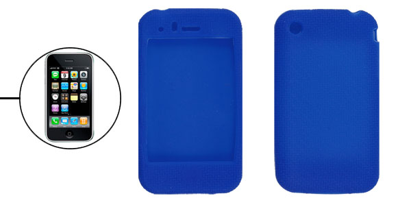 Blue Silicone Protective Case Cover for iPhone 3G 3GS