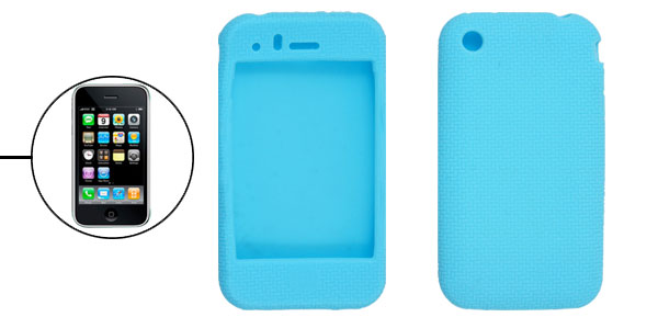 Cyan Silicone Protective Case Cover for iPhone 3G 3GS