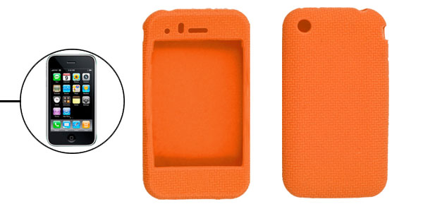 Orange Silicone Protective Case Cover for iPhone 3G 3GS