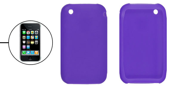 Protective Silicone Case Cover Purple for iPhone 3G 3GS