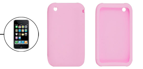 Pink Silicone Protective Case Cover for iPhone 3G 3GS
