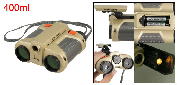 Children Green Lens Night Scope Function Binoculars Toy w Pop Up Spotlight
