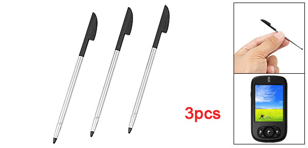 3Pcs Plastic Tip Alloy Body Stylus Touch Pen for O2 XDA Neo