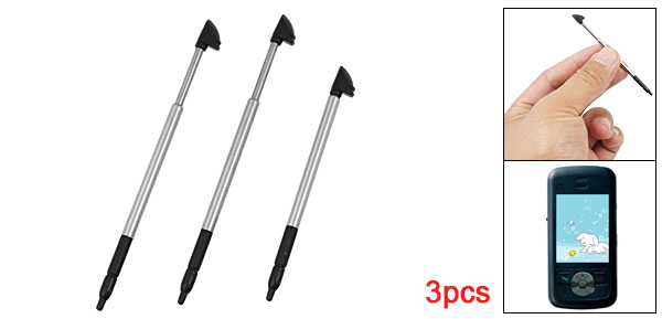 Black Plastic Tip Alloy Handle Touch Pen Stylus 3Pcs for O2 XDA Stealth