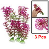 3Pcs Purple Green Plastic Hottonia Inflata Plants Ornament for Aq...