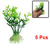 "5Pcs 3.7"" Green Plastic Water Plants Ornament for Aquarium Fish T..."
