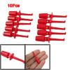 Red Multimeter Lead Wire Test Hooks Clip Set 10 Pcs