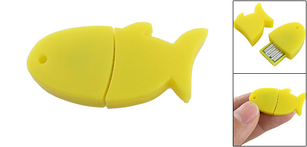 3Mbps USB 10m Working Rang Yellow Fish Shaped bluetooth V2.0 Adapter