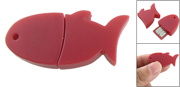 Red Lovely Fish Shaped Design USB bluetooth 2.0 Dongle
