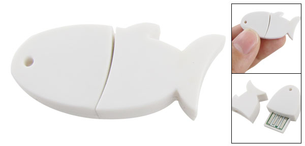 White Cute Fish Shaped Design USB bluetooth 2.0 Dongle