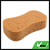 Car Windshield Soft Perforated Yellow Wash Sponge Pad