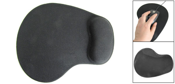 Little Foot Shape Black Soft Silicone Nylon Mouse Pad