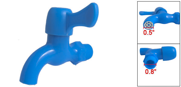 Home Garden Replacement Blue Plastic Water Tap Faucet