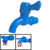 Home Kitchen Garden Blue Plastic Water Tap Faucet