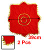 Octagon Shaped Leaves Hem Decor Dance Dancing Handkerchief Red 2 ...