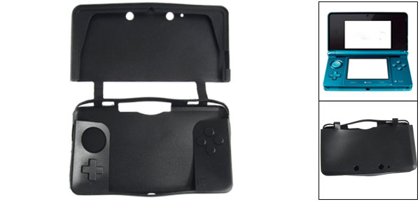 Black Silicone Protective Case Skin for Nintendo 3DS