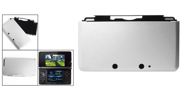 Silver Tone Aluminum Protector Cover for Nintendo 3DS