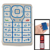 Replacement Silver Tone Blue Keyboard Button Pad for Nokia N76