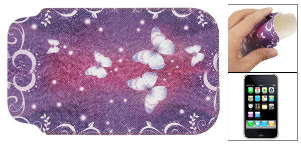 Purple Faux Leather Sleeve Pouch for iPhone 3G 3GS
