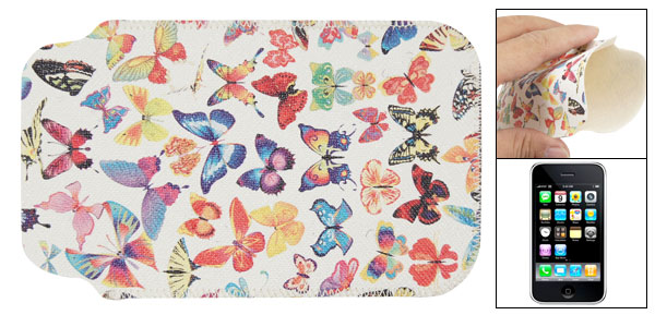 Colorful Butterfly Faux Leather Sleeve Case for iPhone 3G 3GS