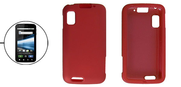 Dark Red Rubberized Hard Plastic Shield Case for Motorola MB860
