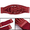 Ladies Faux Leather Chinese Knot Elastic Wide Belt Red