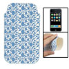 Stitching Hem Blue Floral Faux Leather Sleeve Pouch for iPhone 3G...