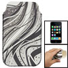 Moving Hair Pattern Nonslip Sleeve Pouch for iPhone 3G 3GS