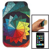 Colors Geometry Print Textured Sleeve Pouch for iPhone 3G 3GS