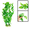 2 Pcs 10 Inch Green Plastic Elliptic Leaf Plant for Aquarium