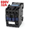 CJX2-1801 690V Ui 3 Poles 1NC AC Contactor 220V 50Hz Coil 18 Amp