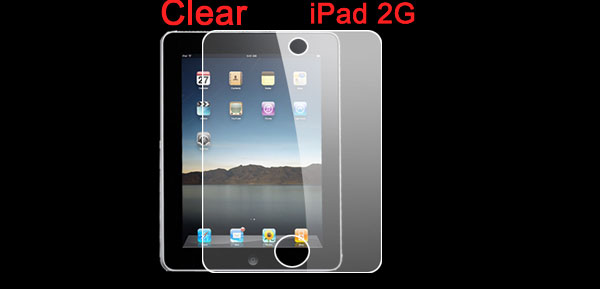 New Clear Plastic Touch Screen Guard for Apple iPad 2G