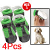 Size 3 Detachable Closure Black Green Mesh Shoes for Puppy