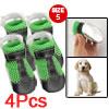 Size 5 Detachable Closure Mesh Black Green Shoes for Pet Dog