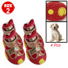 Doggy Size 2 Detachable Closed Sponge Filled Red 2 Pair Shoes